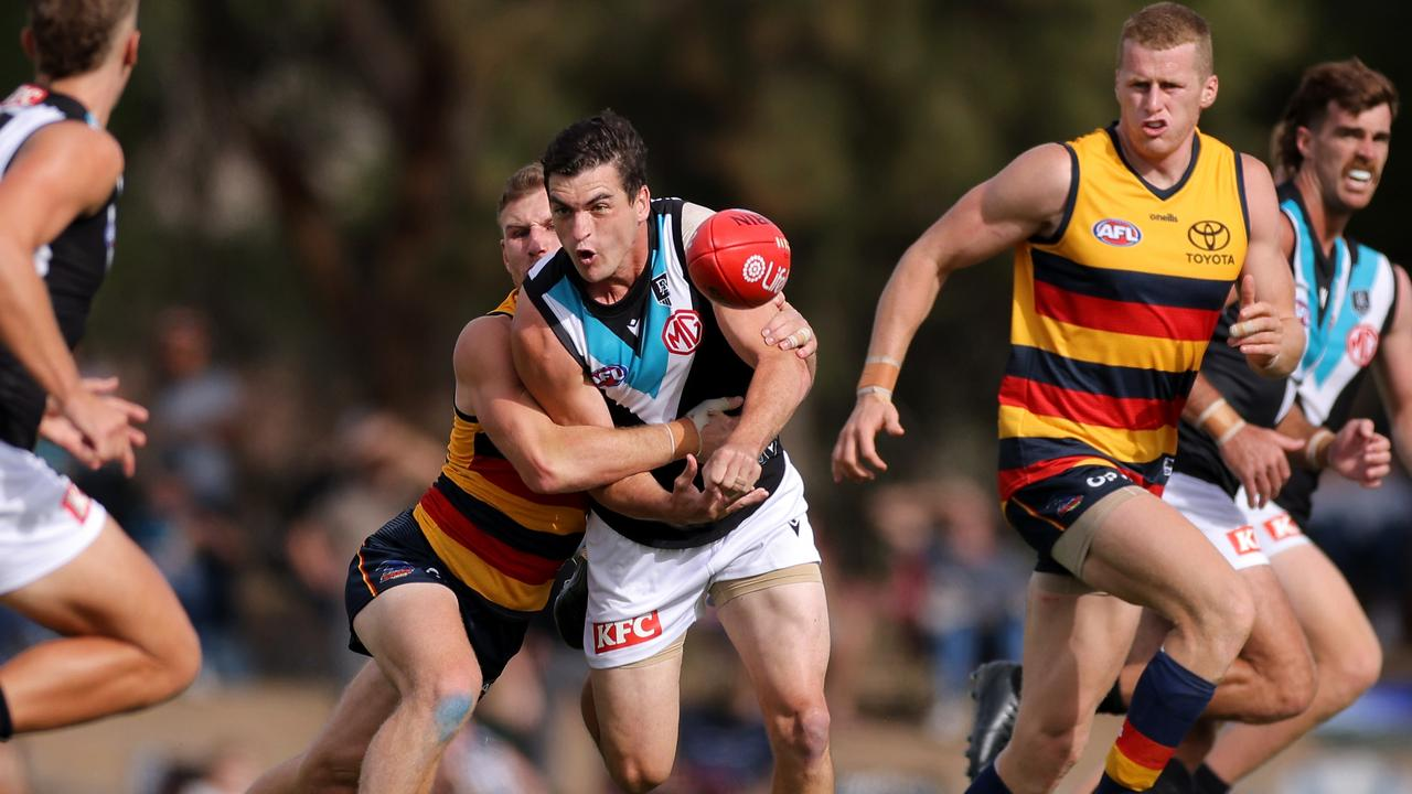 Tom Rockliff has been named as an emergency for Sunday's clash (Photo by Daniel Kalisz/Getty Images)