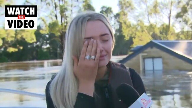 Heartbreaking moment young woman sees her submerged home (Sunrise)