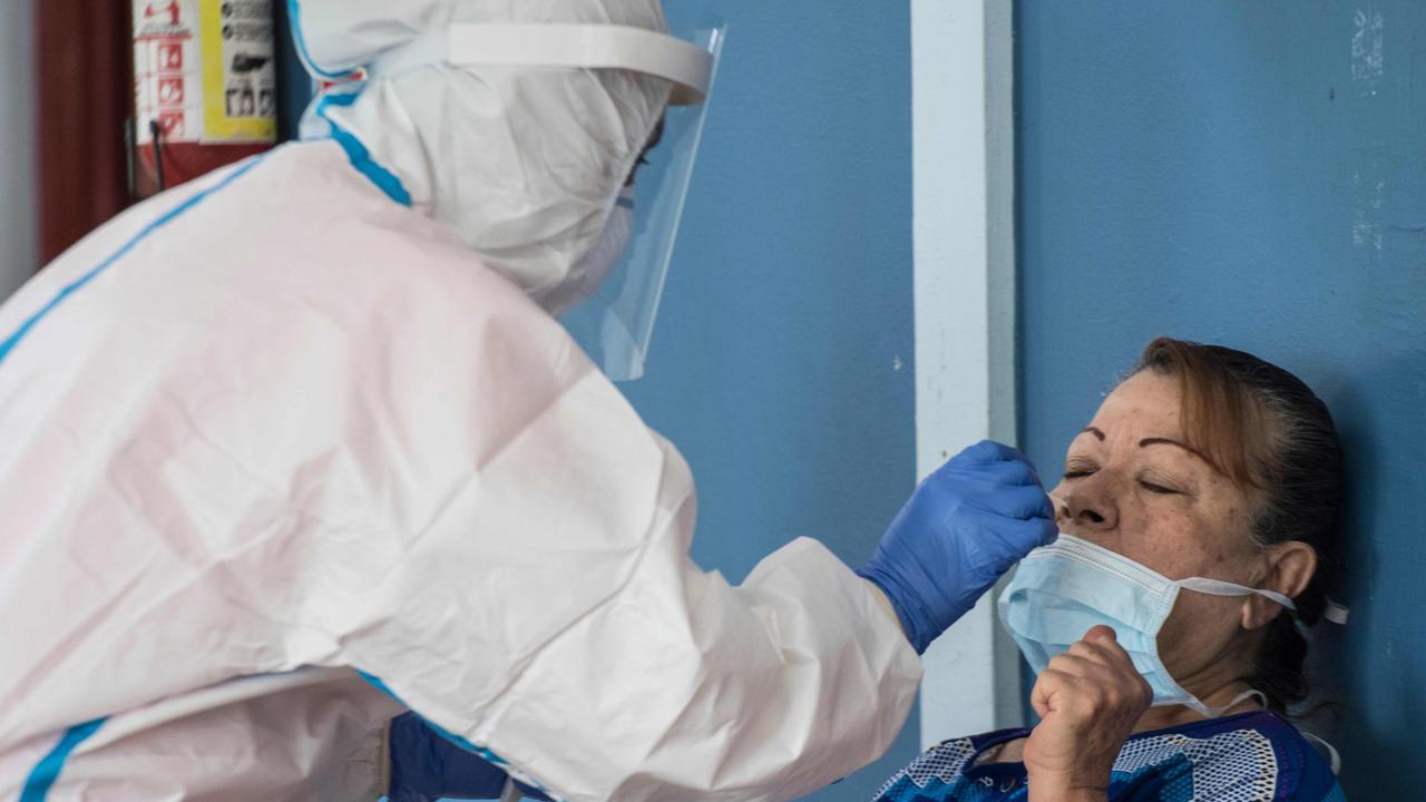 Coronavirus cases are soaring in the United States. Picture: Ezequiel Becerra/AFP