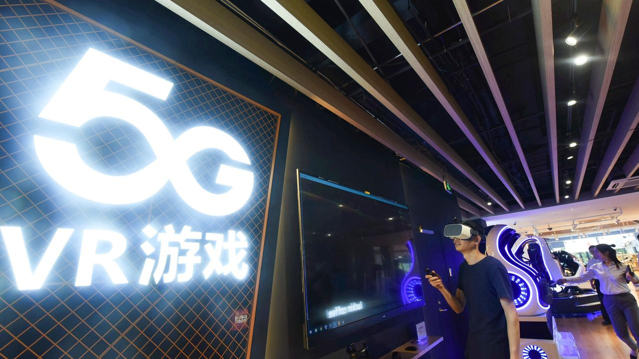 The faster speeds of 5G and the deep immersion of VR provide all new viewing experiences for live sport. Picture: STR / AFP