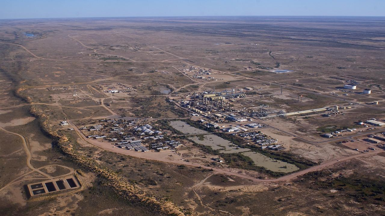 An aerial view of Moomba gas field, Cooper Basin.