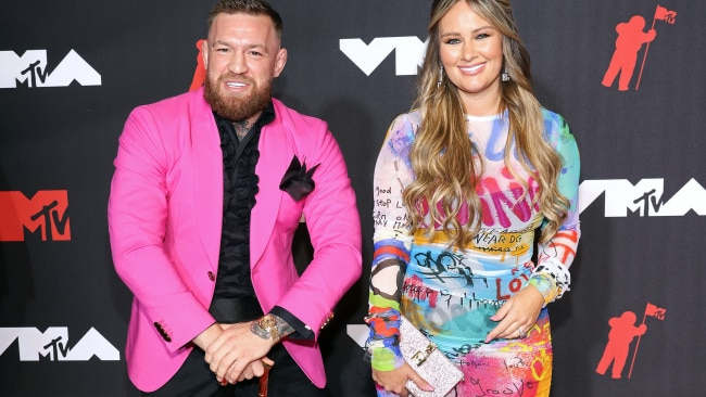 Conor McGregor and his partner Dee Devlin on the red carpet at the MTV Video Music Awards in New York City. Picture: Taylor Hill/FilmMagic