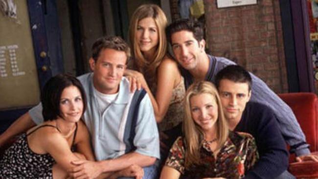 Friends stars including Courteney Cox, Matthew Perry, Jennifer Aniston, David Schwimmer, Lisa Kudrow and Matt LeBlanc. Picture: Supplied