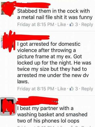 Members of BGA proudly and explicitly boast about physically assaulting men.