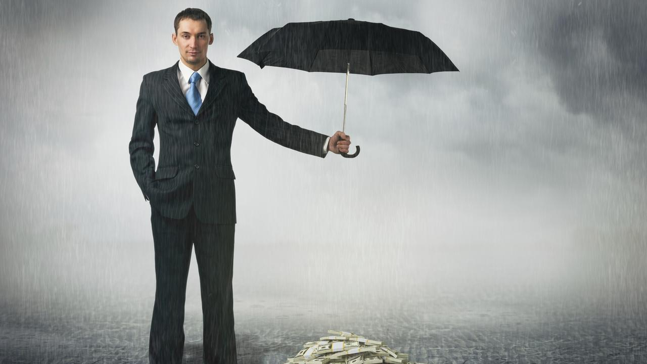 Australians are encouraged to save for a rainy day and not rely on the government. Picture: Getty Images