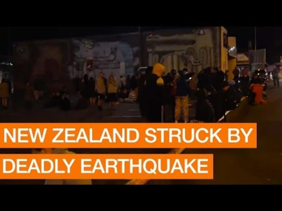New Zealand struck by deadly earthquake