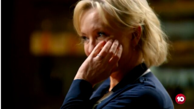 New look at Rebecca Gibney in the kitchen on Celebrity Masterchef