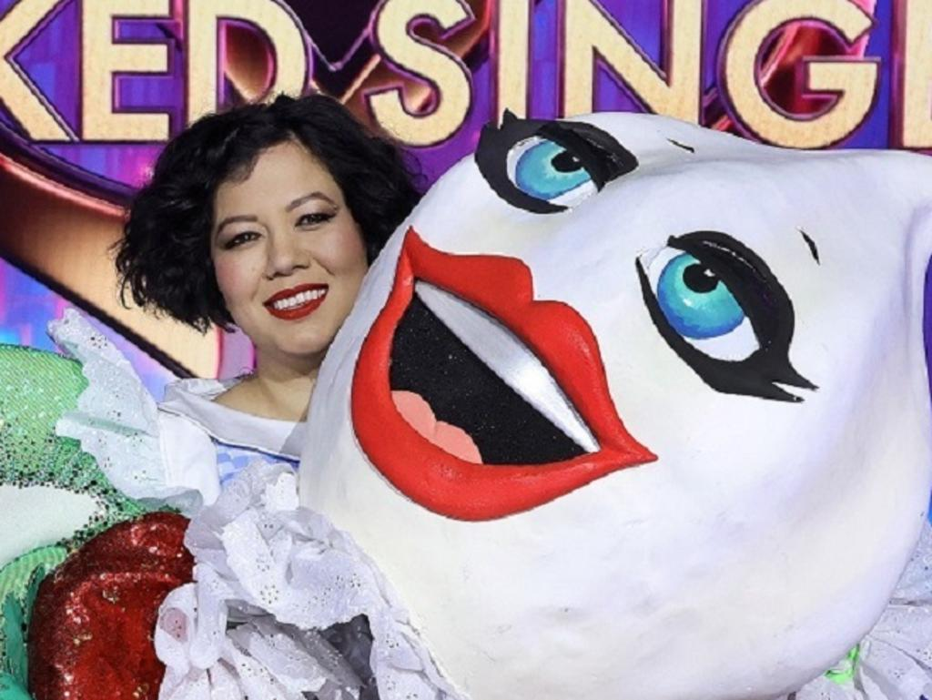 Singer songwriter Mahalia Barnes revealed as the Pavlova in Network 10 show The Masked Singer PHOTOGRAPH BY NIGEL WRIGHT.                 .