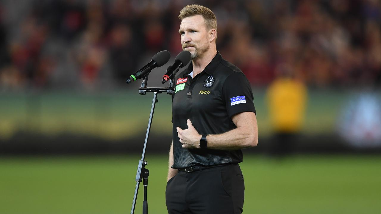 Collingwood coach Nathan Buckley expressed his disappointment at fans who booed Scott Pendlebury after the Round 6 AFL match between Essendon and Collingwood Magpies. Picture: AAP