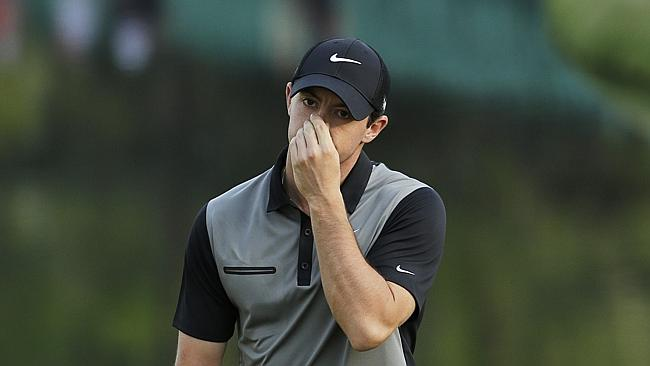 Rory Mcilroy S Horror Shot Almost Hits Defending Masters Champion Adam Scott The Advertiser