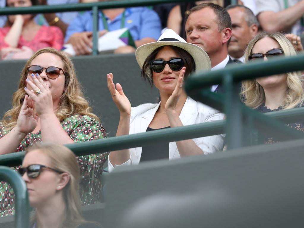 Meghan, Duchess of Sussex attended the Wimbledon Championship this year and is said to be attending the US Open to cheer on her friend Serena Wiliams. Picture: Ella Pellegrini