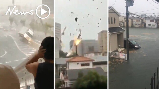 Typhoon Hagibis tears through Japan in shocking footage