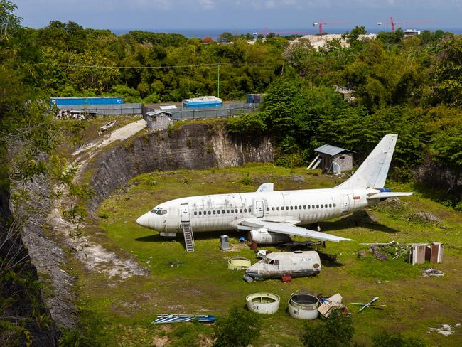 ONE TIME WEB USE ONLY - FEE APPLIES FOR REUSE - BALI, INDONESIA - DECEMBER 27, 2017: Abandoned Aircraft in South Kuta. Picture: Shutterstock