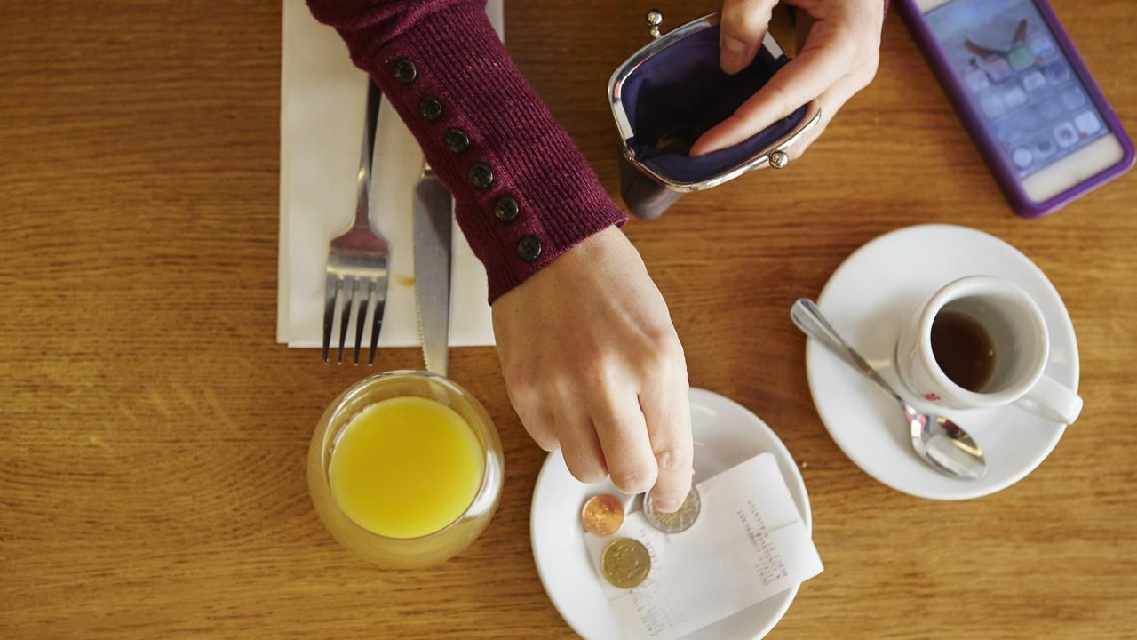 Thank god we don't have a tipping culture in Australia. Picture: Getty
