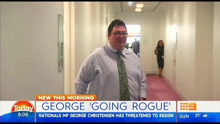 George Christensen threatens to quit government