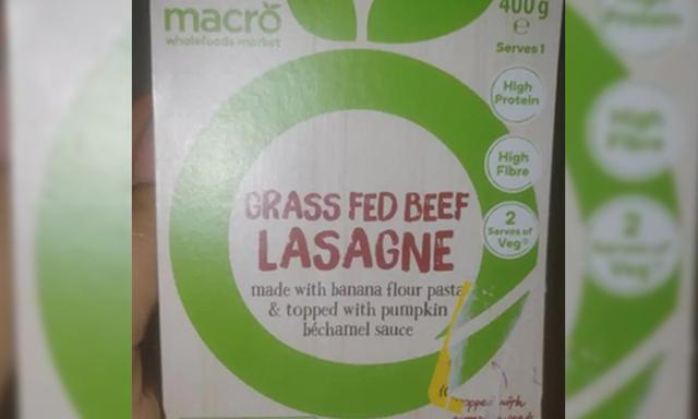 macro organics grass fed beef lasagne