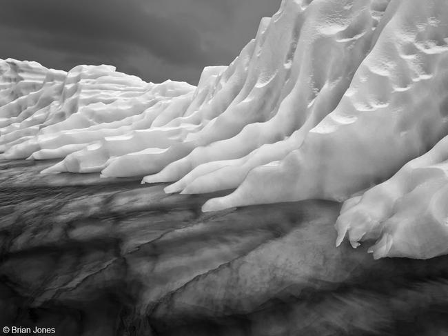 2017 Australian Geographic Nature Photographer of the Year competition: Monochrome Winner: Iceberg at Paradise Harbour, Brian Jones (ACT) The iceberg has wonderful form and texture (which is accentuated in high contrast monochrome), and some of the 90 per cent that is under the water can also be seen.