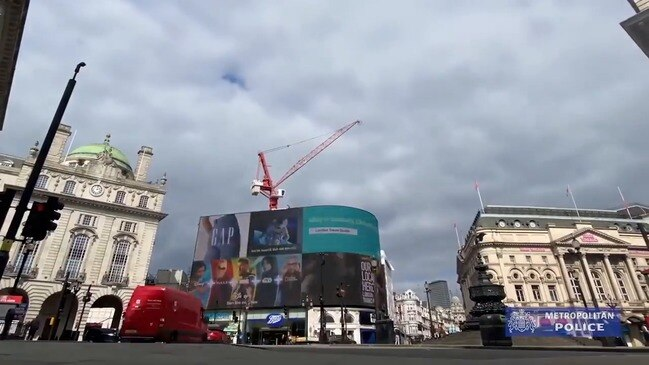 London's Piccadilly Circus Seen Quiet Amid Coronavirus Lockdown