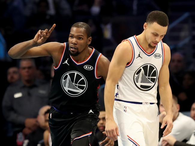Curry hits back at KD's Warriors whack