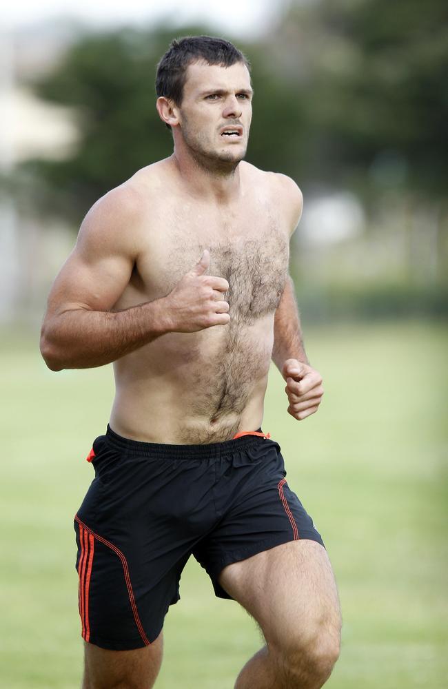 Brent Stanton on the running leg. Picture: Sarah Matray