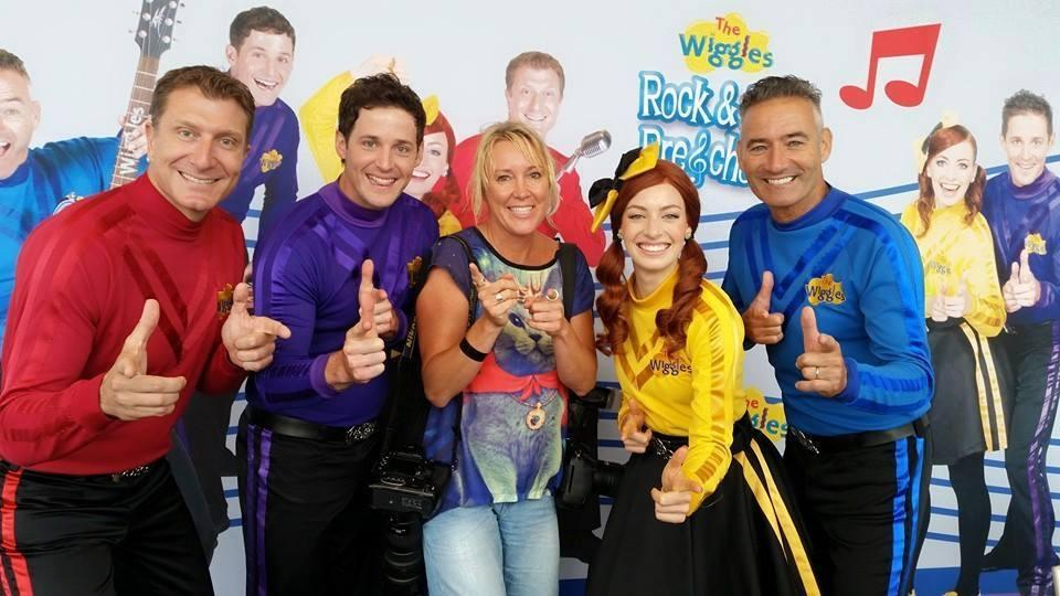 Wiggles are the first group to have their hand prints immortalised at Sydney's Stars Walk