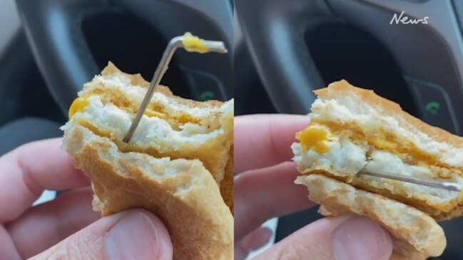 Woman's horror find in Macca's burger