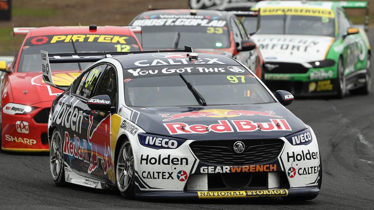 Shane van Gisbergen's race hit a hurdle. Picture: Robert Cianflone/Getty