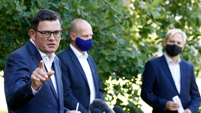 Premier Daniel Andrews says he would like to send the Delta variant back up to Sydney where it came from. Picture: Getty Images
