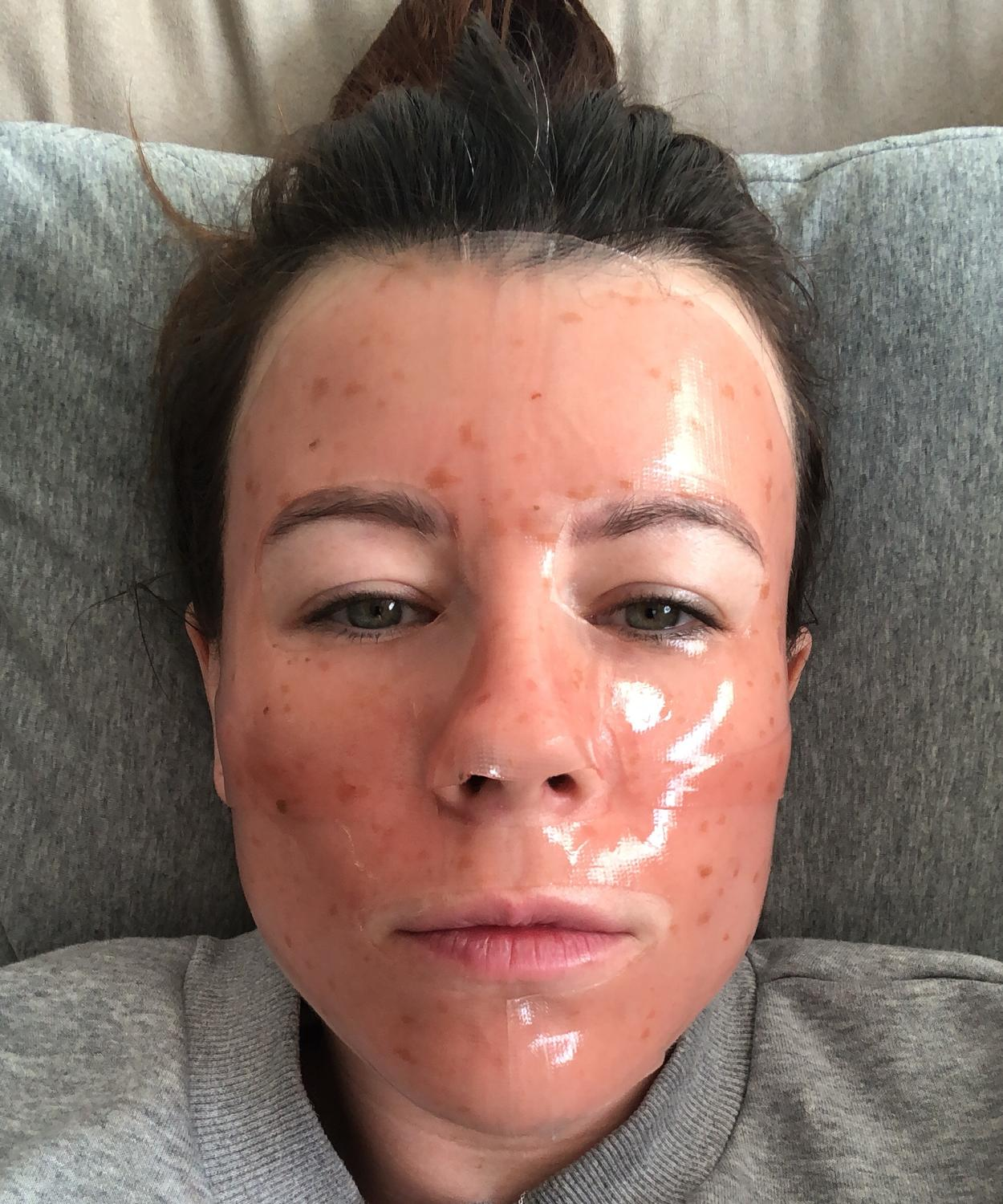This gel face mask from Aceology looks terrifying, but it's one of my fave A-Beauty products. Picture: Supplied