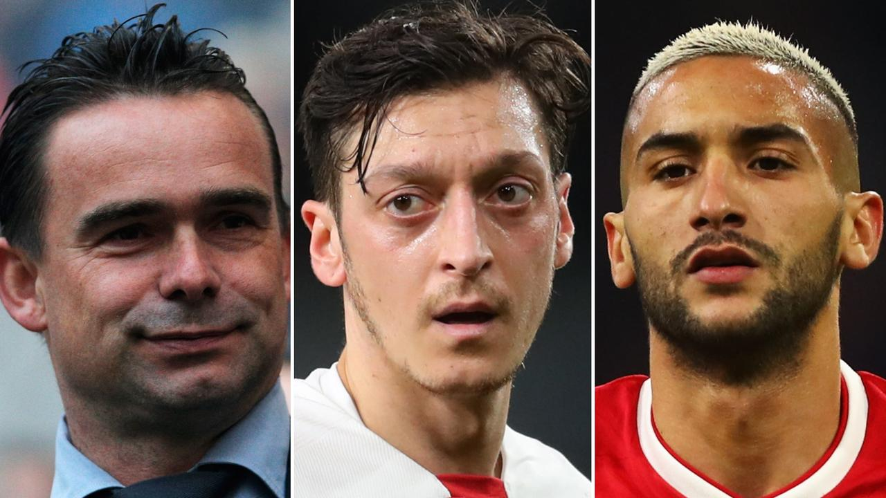 Marc Overmars calls on Arsenal to sell Mesut Ozil and purchase Ajax star Hakim Ziyech
