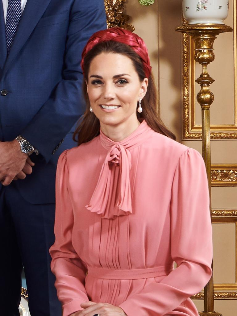 Kate chose a pair of Diana's earrings for the occasion. Picture: Chris Allerton/SussexRoyal via Getty Images