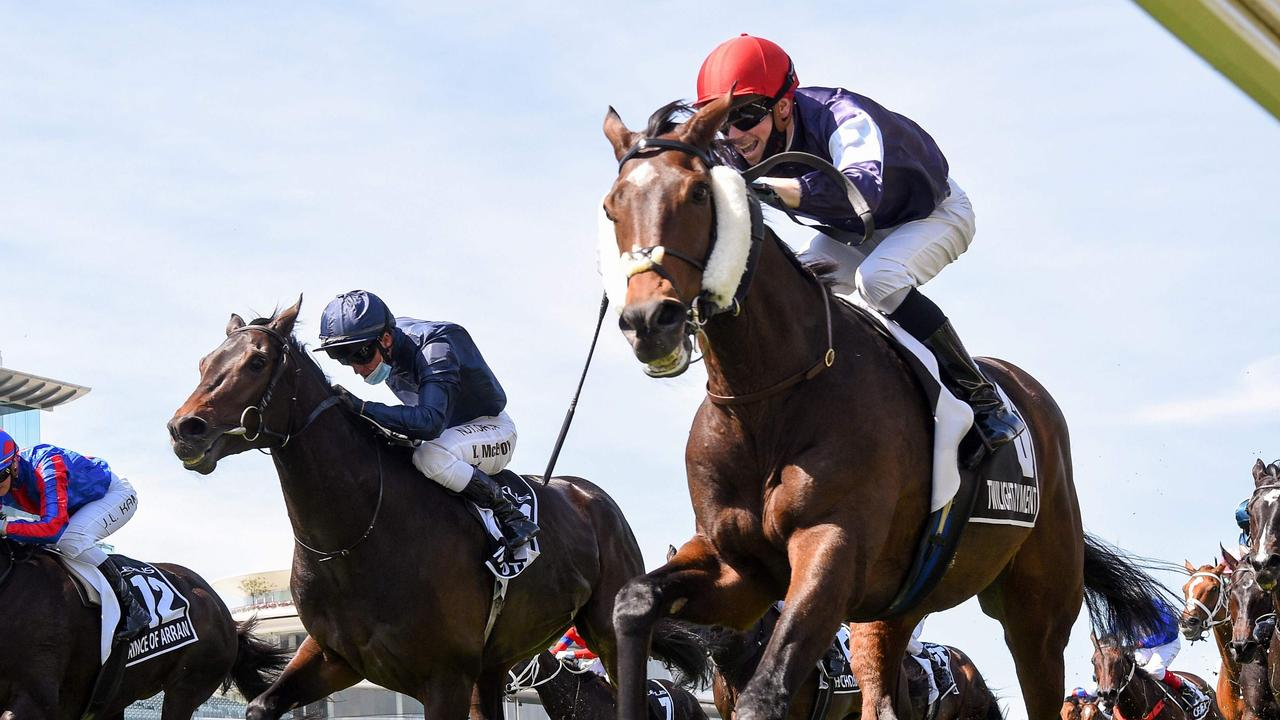 Last year's Melbourne Cup winner Twilight Payment is set to arrive in Australia in late September. Picture: AFP