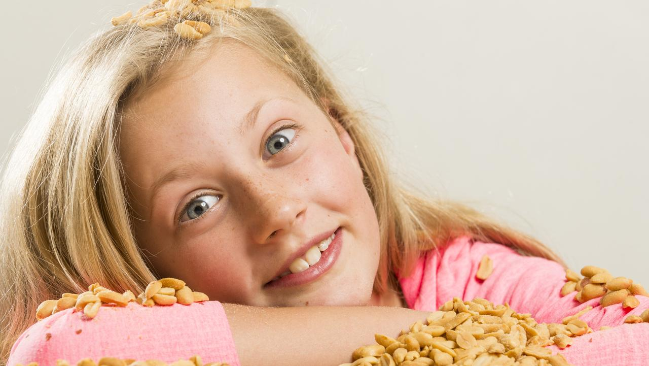 Olivia May has been cured of her peanut allergy with a new vaccine. Picture: Eugene Hyland