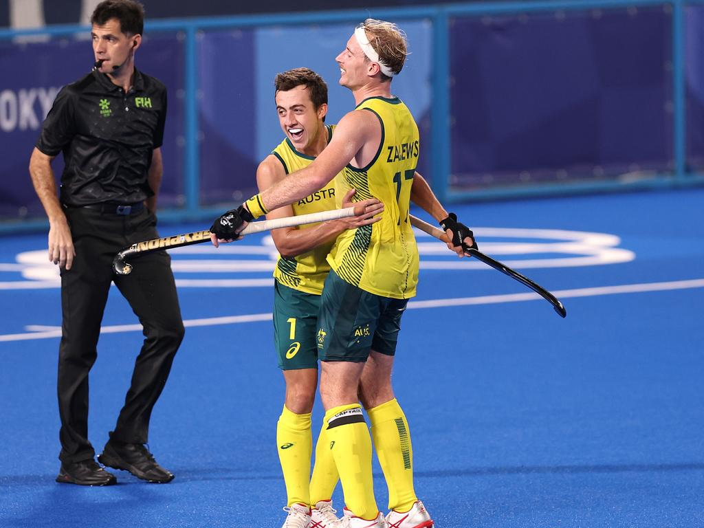The Aussie men are playing for gold.
