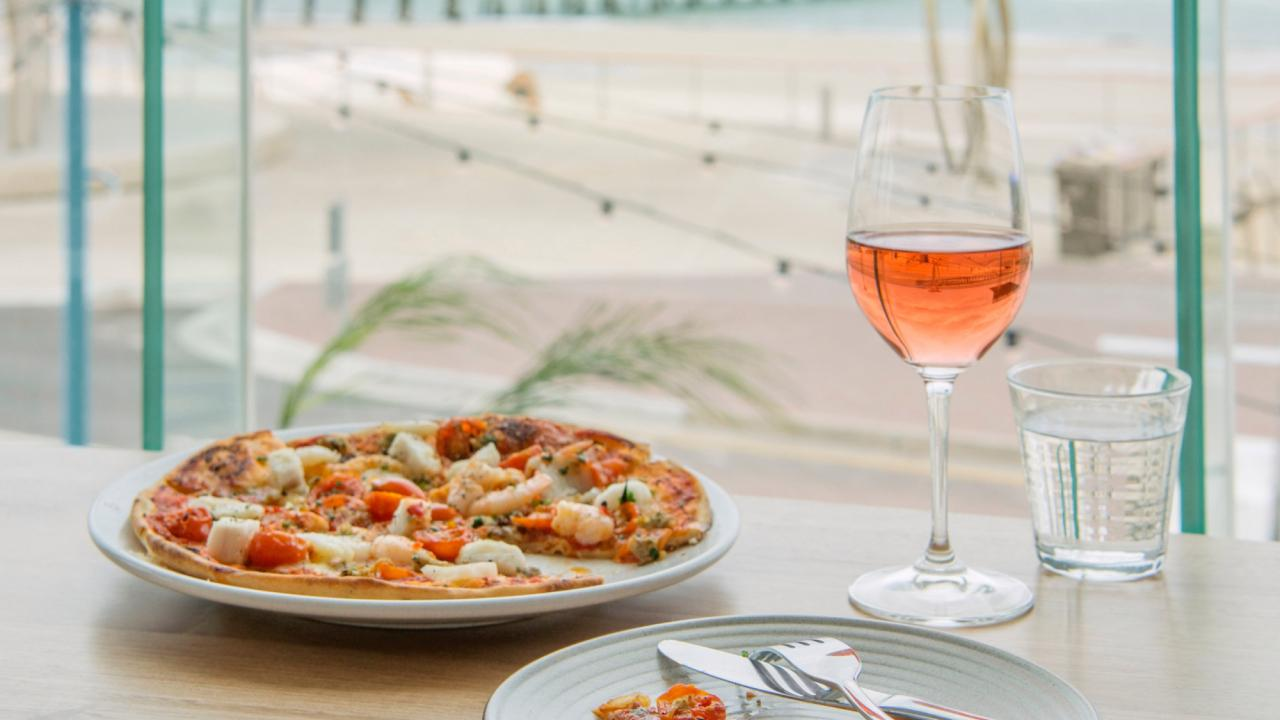 Pizza and Rose at Melt restaurant, Henley, South Australia Picture: Jacqui Way