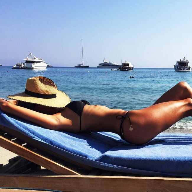Relax and unwind in private paradise ... Where: Santa Marina Resort Villas, a Luxury Collection Hotel in Mykonos. Picture: @alessandraambrosio/Instagram