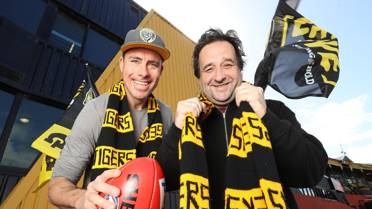 Richo, with Mick Molloy, has had plenty to celebrate the past few years. Picture: Alex Coppel.