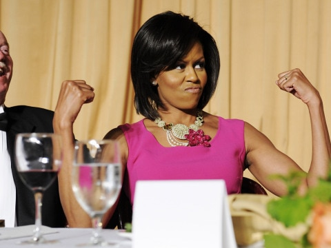 The first lady (of fitness) Michelle Obama. Image: Getty