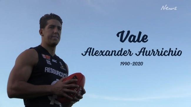 Former VFL footballer Alexander Aurrichio tribute