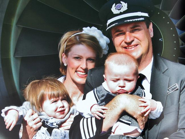 Virgin pilot Scott Wickland died from a brain tumour aged 43. Picture: Sarah Matray