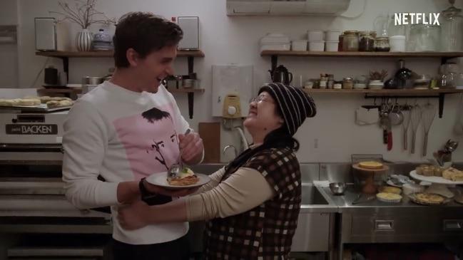 Antoni and Yoko feed each other on Queer Eye