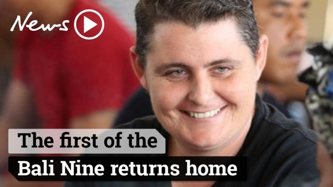 The first of the Bali Nine returns home
