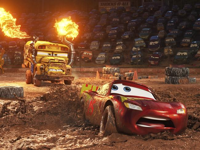 Lightning McQueen returns in Cars 3 but is showing predictable signs of age. Picture: Disney-Pixar