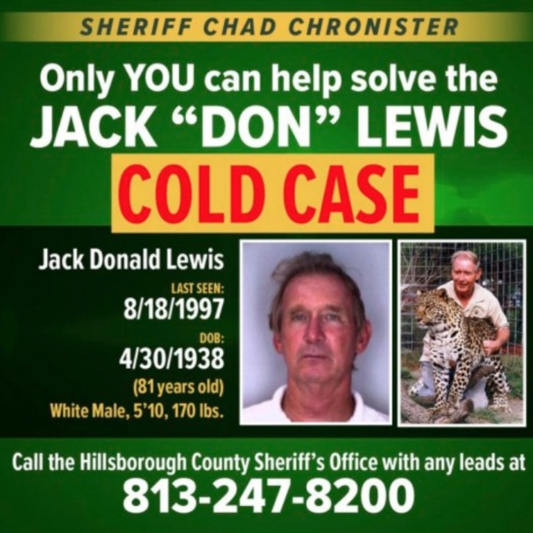 Don Lewis is still missing.