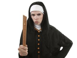 Catholic nuns habits are similar to hijabs but don't attract the same criticism.