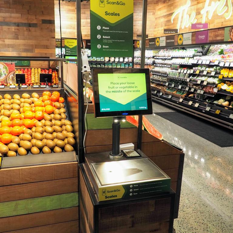 There is a special way these smart scales deter people from giving themselves 'five finger discounts'. Picture: Woolworths