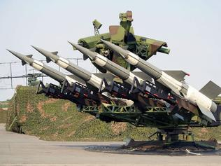 A mount of SA-3 missiles similar to that believed captured by IS forces.