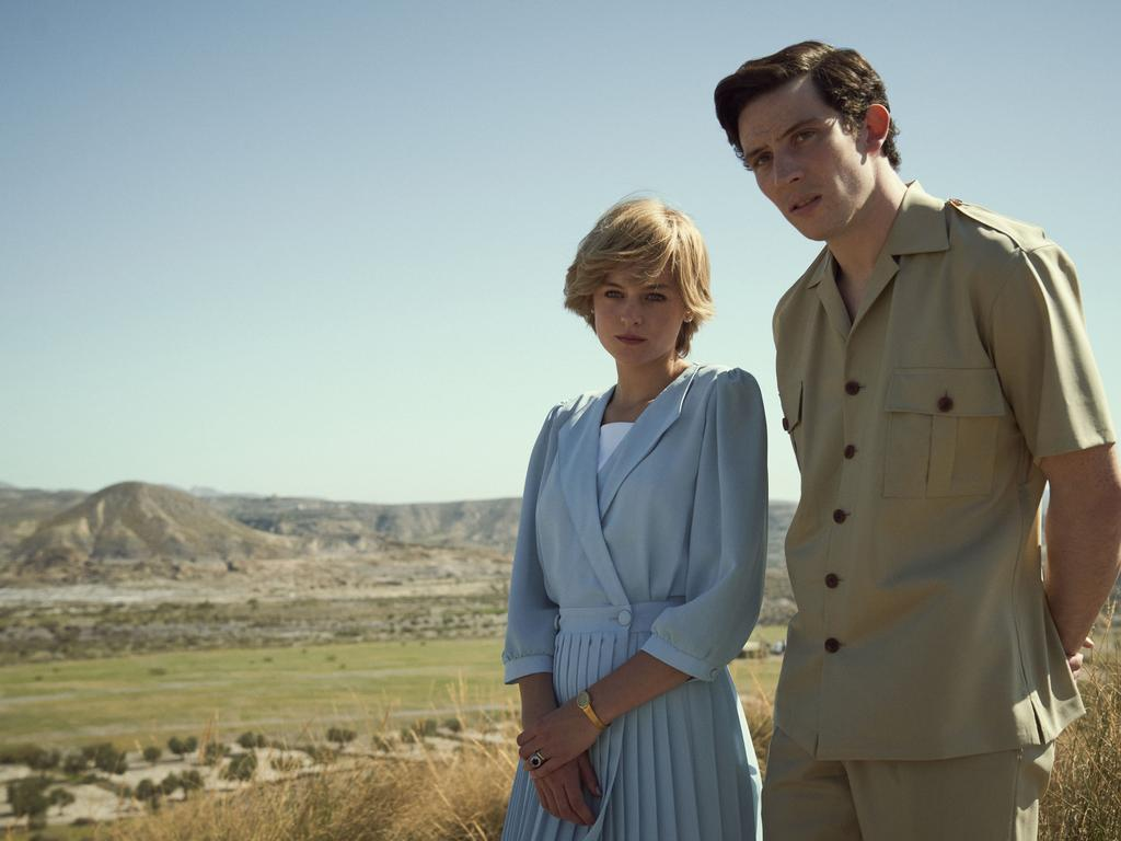 Princess Diana, played by Emma Corrin, and Prince Charles, played by Josh O'Connor.