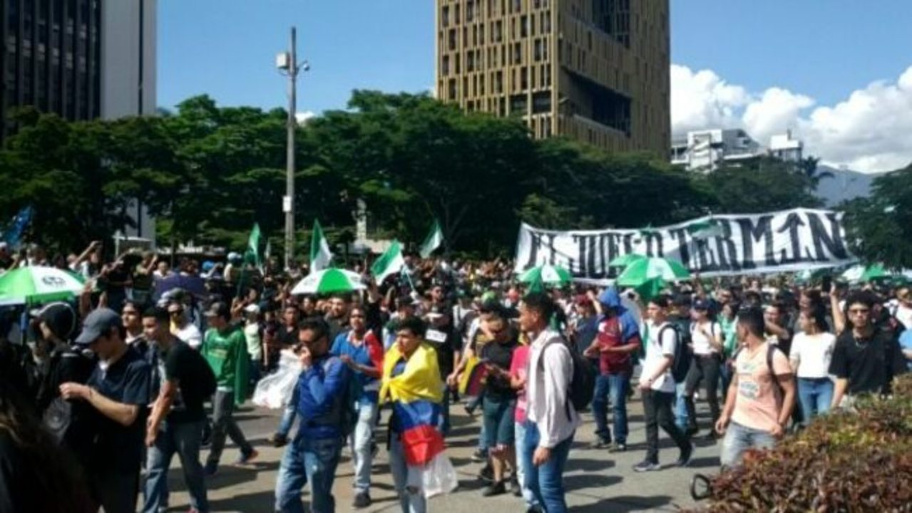 Thousands Of Atletico Nacional Fans Join Protest March In