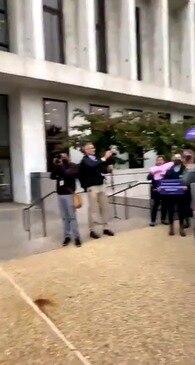 Demonstrators Chant 'Fill That Seat' as Amy Coney Barrett Confirmation Hearings Begin
